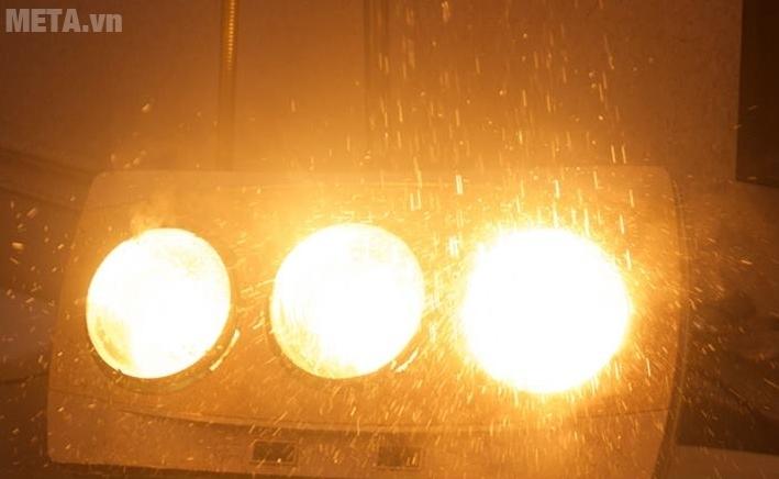 Đèn sưởi nhà tắm Kottmann 3 bóng K3BH an toàn khi gặp nước.