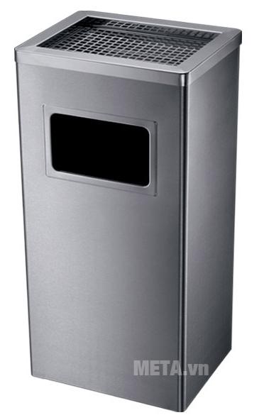Thùng rác inox ECO 116 thiết kế cửa hông vứt rác có kích thước rộng.