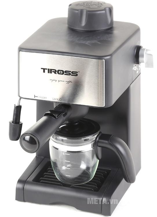Máy pha cà phê Espresso Tiross TS-621 chỉ sau 3 phút có thể pha được 4 tách cà phê.
