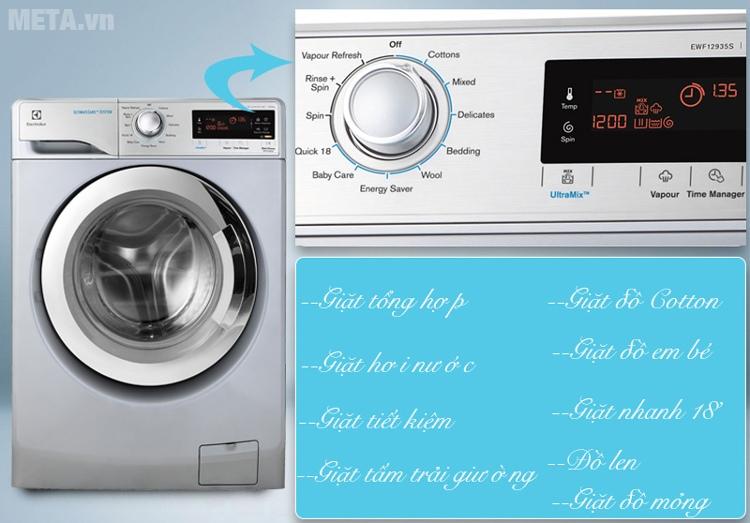 Máy giặt cửa trước Electrolux EWF12935S có 9 chương trình giặt