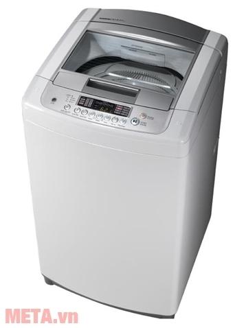 Máy giặt lồng đứng LG WF-S8019BW giặt được 8kg quần áo/1 lần giặt.