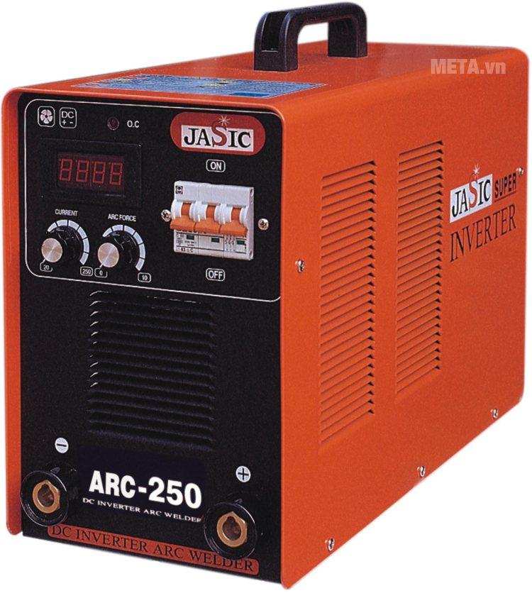 Máy hàn que Jasic ARC-250 (R112) dùng que hàn lên tới 4 ly