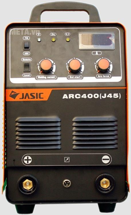 Máy hàn que Jasic ARC-400 (J45) có màn hình hiển thị dòng hàn
