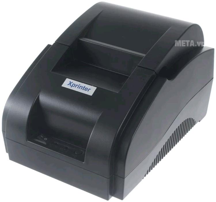 Máy in hóa đơn Xprinter XP-58IIH với thiết kế nhỏ.