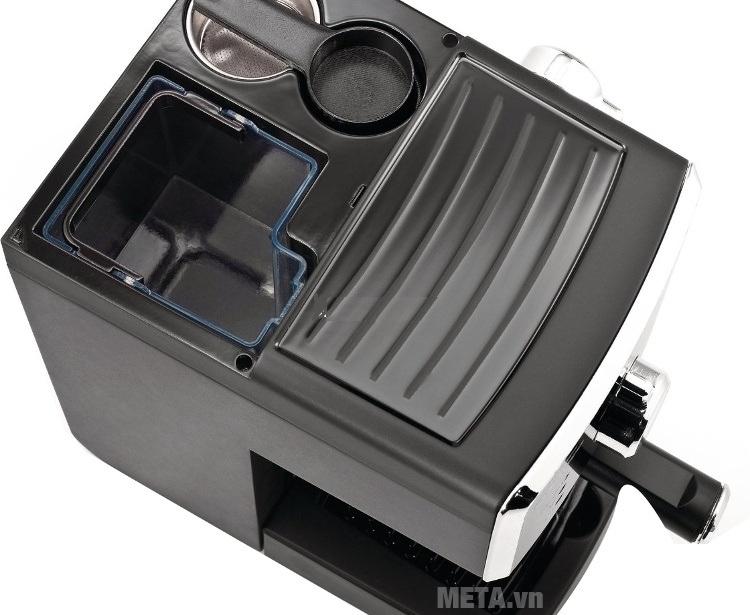 Máy pha cà phê Saeco Poemia Focus HD8423 (HD 8323) có chỗ hâm nóng tách.