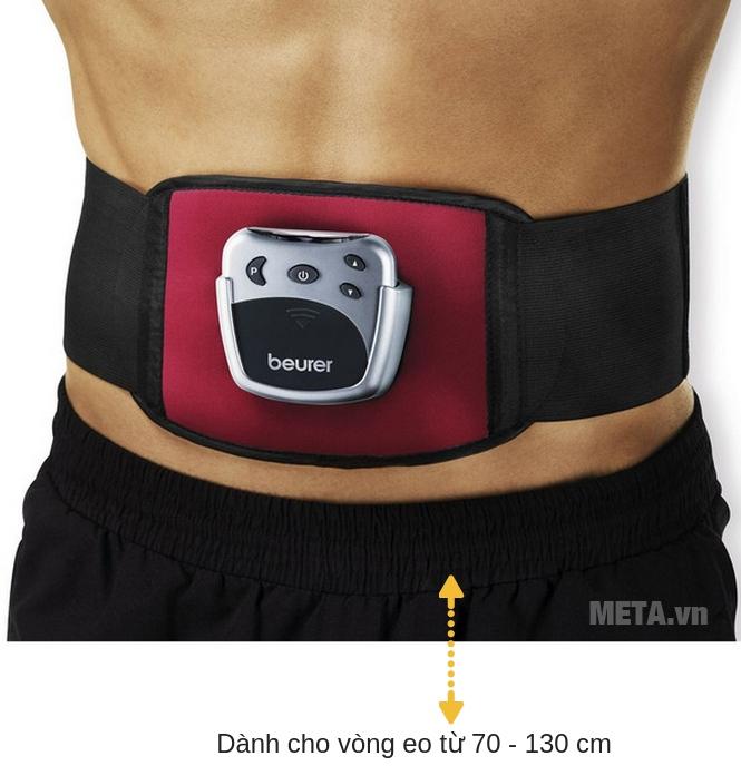 Máy massage xung điện đai bụng Beurer EM30 dành cho cả nam và nữ sử dụng.