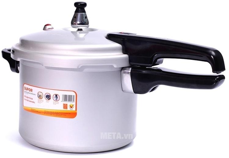 Supor YL183F5 làm bằng chất liệu hợp kim nhôm dẫn nhiệt tốt, xử lý oxy hóa mềm bền và an toàn.