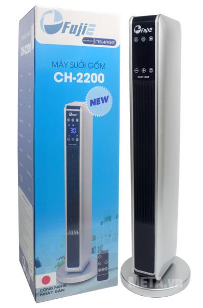 Quạt sưởi gốm Ceramic để sàn FujiE CH-2200 sản xuất theo công nghệ Nhật Bản.