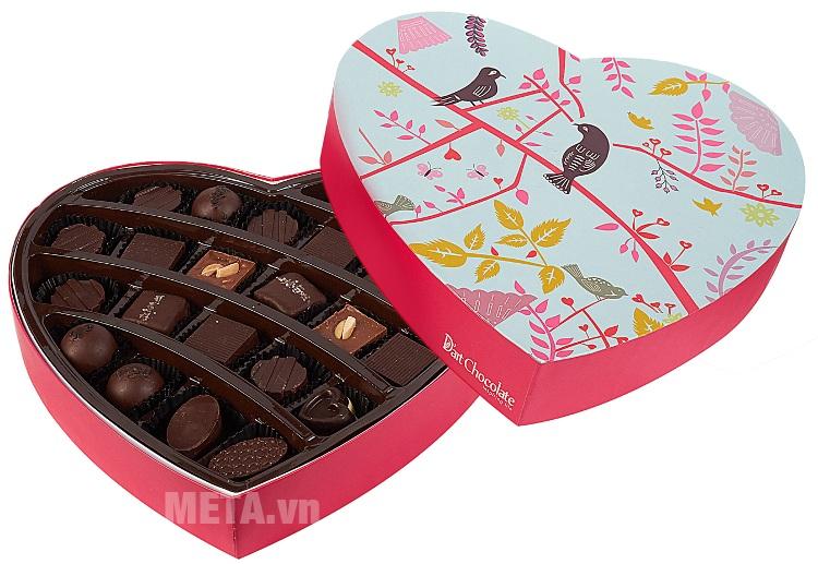 Hộp socola Valentine D'art Chocolate tim lớn V17-40