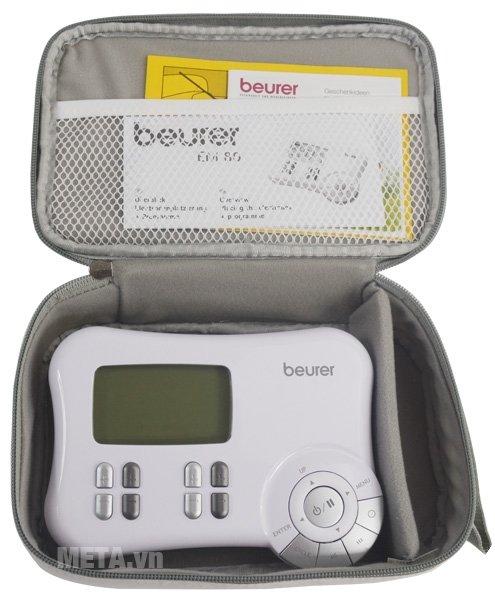Túi đựng máy massage xung điện Beurer EM80 thiết kế có khóa kéo chắc chắn.