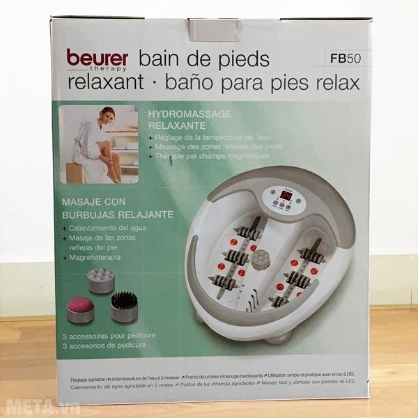 Hộp đựng bồn massage chân Beurer FB-50