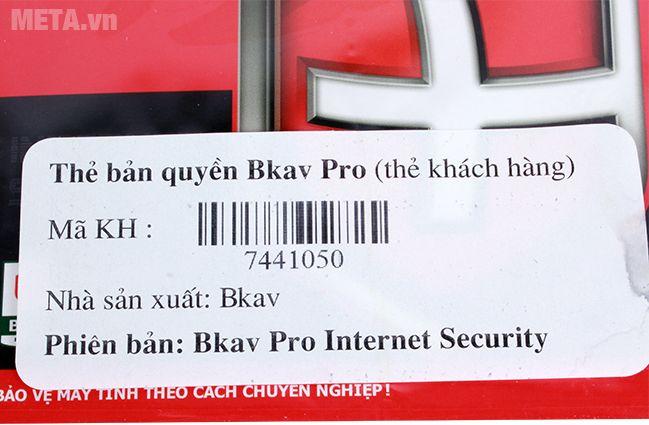 Bkav Pro Internet Security 1 năm/01 là phần mềm diệt virus bản quyền.