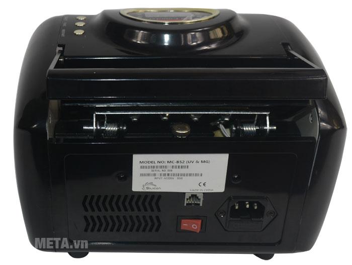 Mặt sau của máy đếm tiền Silicon MC-B52