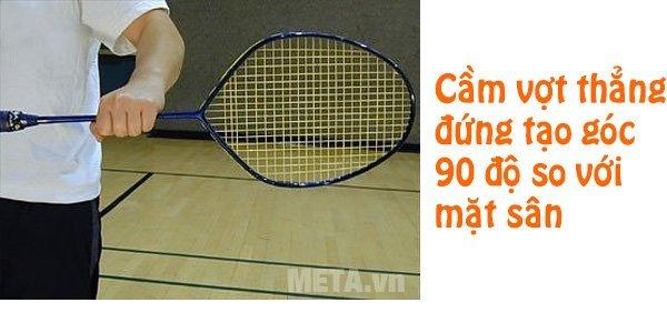 HÌnh 1 - cầm giữa thân vợt bằng tay trái