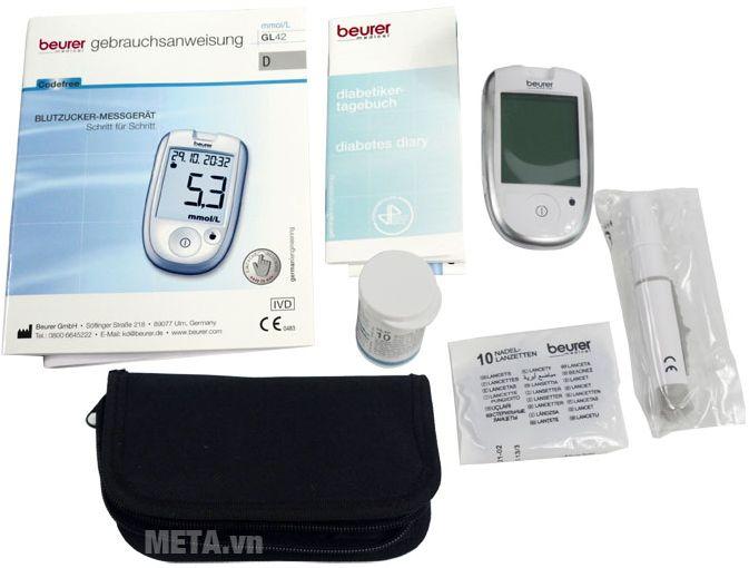 Bộ sản phẩm máy đo đường huyết Beurer GL42