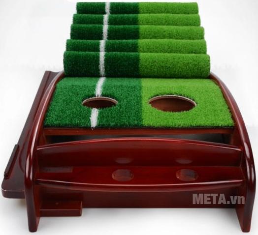Thảm tập Golf Putting DG với thiết kế thảm 2 màu.