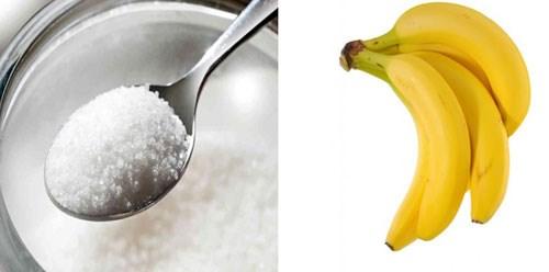 Cách tẩy tế bào chết bằng đường và chuối
