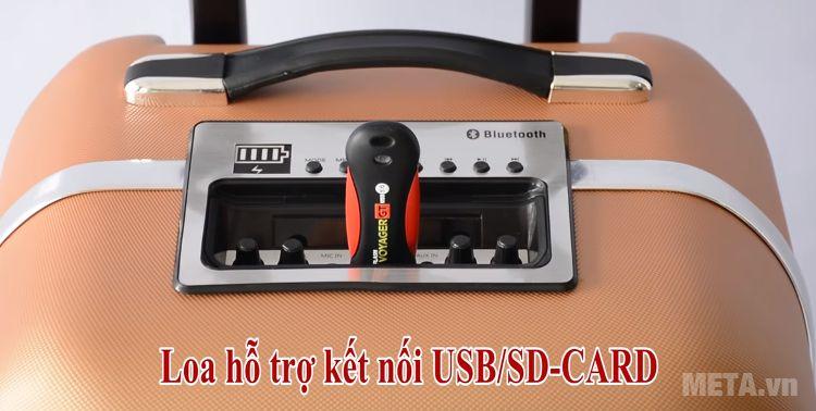 Loa SoundMax M-6 trang bị cổng cắm USB