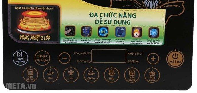 Bếp từ cảm ứng Supor SDHCB45VN-210 với 7 chức năng nấu tiện dụng