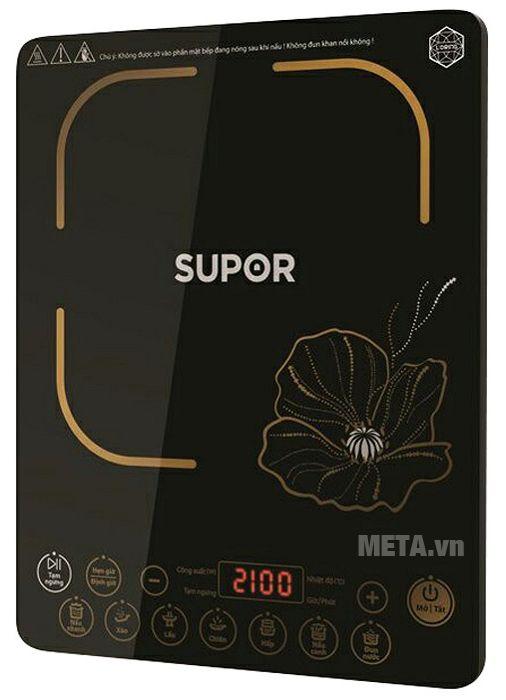 Bếp từ cảm ứng Supor SDHCB45VN-210 thiết kế siêu mỏng giúp di chuyển hay vệ sinh thật nhẹ nhàng.
