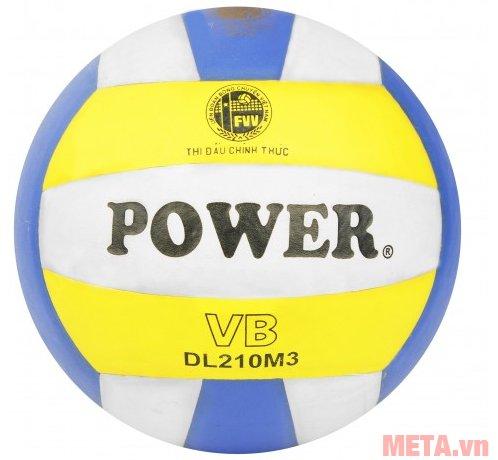 Bóng chuyền da PU Power DL 210M3 là quả bóng thi đấu chính thức của VFF