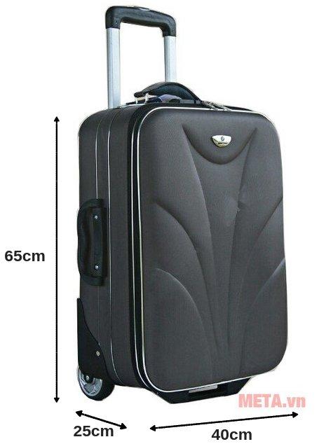 Vali thường 2 bánh VL003F 24 inch là loại vali 6 tấc