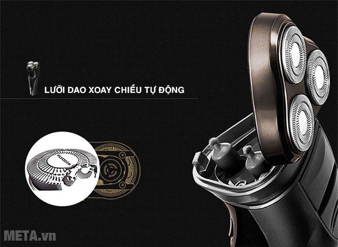 Máy cạo râu Flyco FS-371VN có lưỡi dao xoay chiều tự động