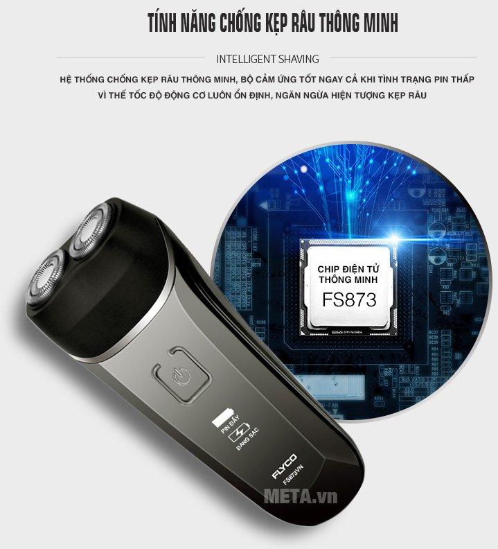 Máy cạo râu Flyco FS-873VN sử dụng chip điện tử thông minh