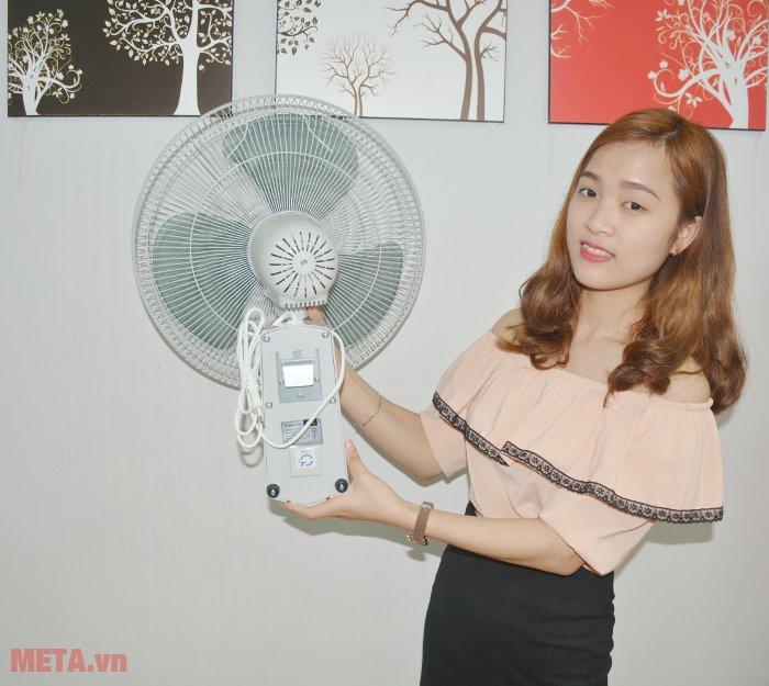 Quạt treo tường Midea FW40-7JR có công suất 50W tiết kiệm điện