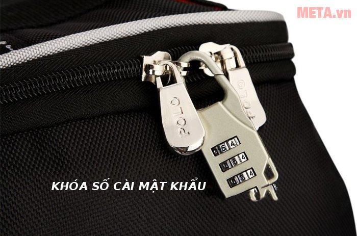 Túi golf hàng không Polo có trang bị khóa số giúp bảo vệ đồ an toàn