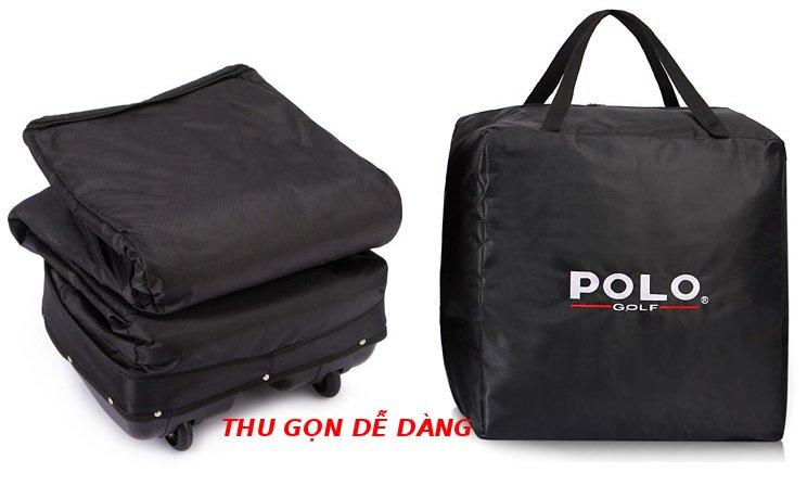 Túi golf hàng không Polo gập gọn giúp cất giữ gọn gàng