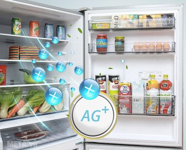 Ion Ag+ khử mùi, khử khuẩn đến 99% cho thực phẩm tươi lâu.