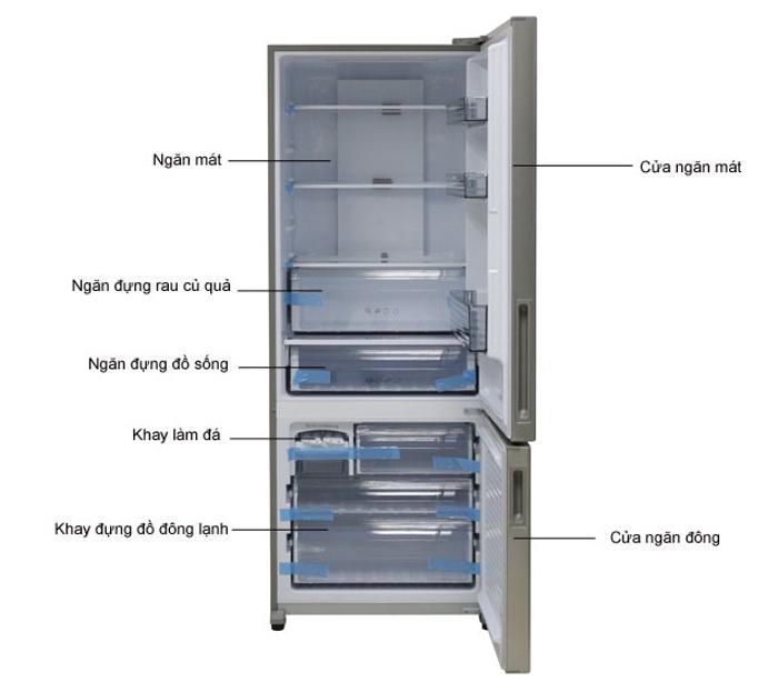 Bộ phận để thực phẩm của tủ lạnh Econavi NR-BX468XSVN 405L
