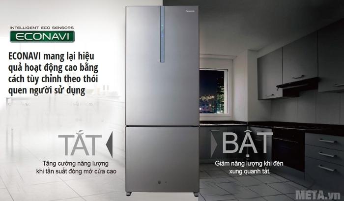 Tủ lạnh Econavi NR-BX468XSVN 405L tiết kiệm điện năng hiệu quả