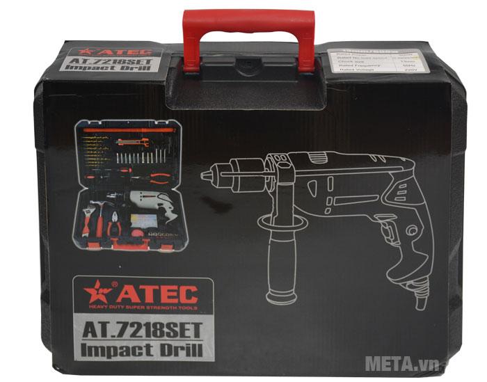 Máy khoan Atec AT7218 thiết kế hộp đựng có tay xách giúp di chuyển dễ dàng