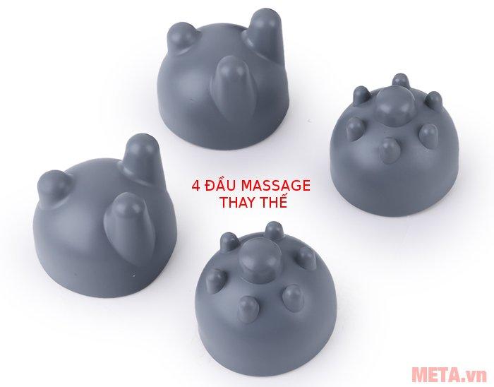 4 đầu massage thay thế của máy massage đấm đèn hồng ngoại ITM