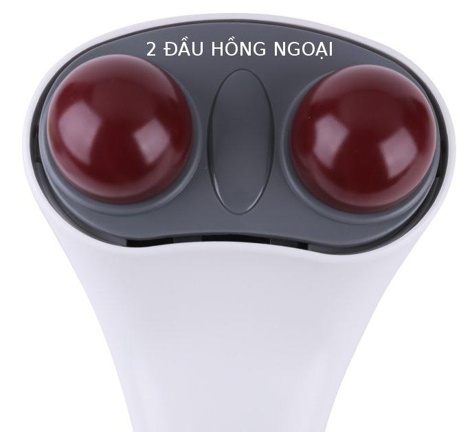 2 đầu hồng ngoại của máy massage đấm đèn hồng ngoại ITM