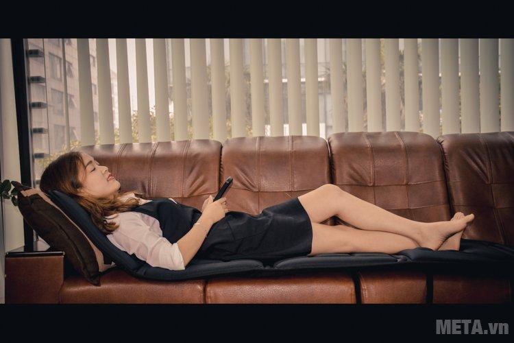 Đệm massage toàn thân Lanaform LA110315 có chiều dài 175cm, phù hợp với kích thước chiều cao của nhiều người.