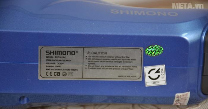 Máy hút bụi cầm tay Shimono SVC1016-C công suất mạnh mẽ 100W