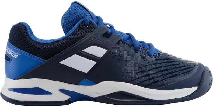 Giày tennis trẻ em Babolat 33S17478-102 sử dụng công nghệ hiện đại chống mài mòn ở mũi giày.