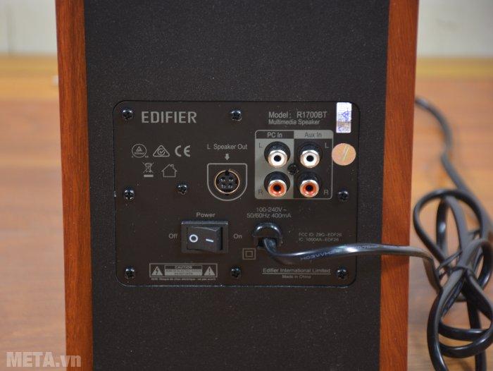 Loa Edifier R1700BT kết nối với điện áp 100 - 240 V/50 - 60 Hz