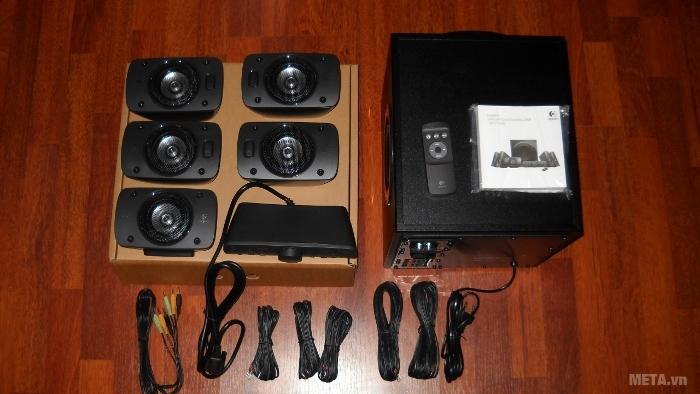 Phụ kiện đi kèm bộ 6 loa Logitech Surround Sound Speakers Z906