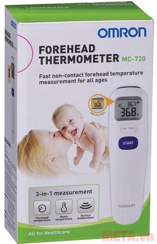 hướng dẫn sử dụng nhiệt kế đo trán omron mc-720