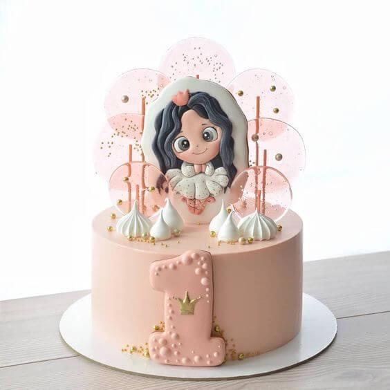 gợi ý 20 mẫu bánh sinh nhật đẹp cho bé gái 1 - 10 tuổi