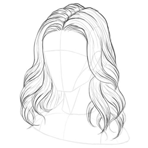 cách vẽ tóc anime nữ, nam đơn giản mà đẹp